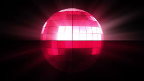Pink disco ball vector illustration