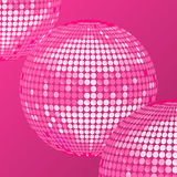 Pink disco ball background Stock Photos