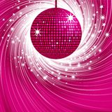 Pink disco ball and swirl Royalty Free Stock Image