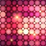 Pink disco circles vector abstract background Royalty Free Stock Images