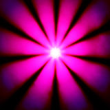 Pink disco dance light in a bright sun star shape Stock Photos