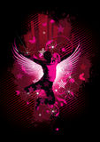 Pink disco dancer illustration Royalty Free Stock Photography