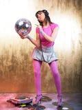 Pink Disco Girl Stock Image