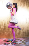 Pink Disco Girl Stock Images