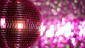 Pink discoball club music stock video footage