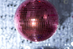 Pink discoball Royalty Free Stock Image