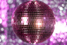 Pink discoball Stock Photography