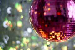 Pink discoball Royalty Free Stock Images