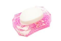 Pink dish soap Stock Photos