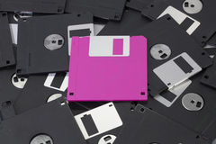 Pink diskette Royalty Free Stock Photos