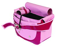 Pink dog bag. Isolated on white Royalty Free Stock Photography