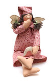 Pink doll with wings Royalty Free Stock Photo