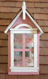 Pink Dollhouse Window Stock Image