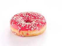 Pink Donut. Against a white background Royalty Free Stock Images