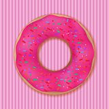 Pink donut Royalty Free Stock Images