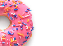 Pink donut Royalty Free Stock Photo