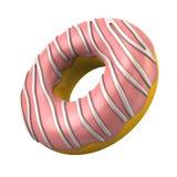 Pink donut 3d illustration Stock Image