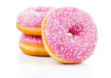 Pink Donut Stock Image