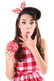 Pink donut Stock Photography