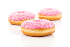 Pink Donut Royalty Free Stock Image