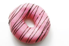 Pink Donut. On white background Royalty Free Stock Image