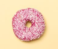 Pink donut royalty free stock photos