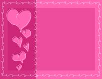 Pink Doodle Valentine Hearts Background Stock Image