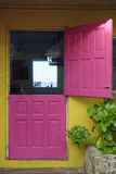 Pink Door. Leading to a view of the ocean Stock Photography