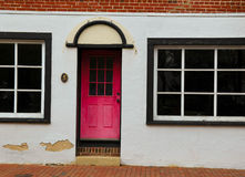 Pink Door With Black Trim Royalty Free Stock Image