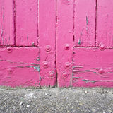 Pink door Royalty Free Stock Photography