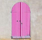 Pink door Stock Photo