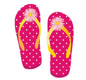 Pink Dot Flip flop Royalty Free Stock Image