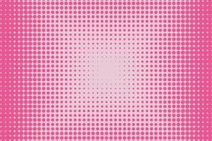 Pink dot lines. Halftone background. Futuristic panel. The backdrop to create a modern backgrounds, banners Pop art style Royalty Free Illustration