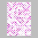 Pink dot pattern brochure background - vector stationery template design. Pink abstract dot pattern brochure background - vector stationery template design Stock Photos