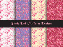 Pink dot pattern design Stock Photo