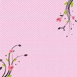 Pink dots floral background Royalty Free Stock Image
