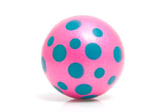 Pink dotted ball. Isolated on white background royalty free stock photo