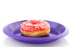 Pink doughnut Royalty Free Stock Photography