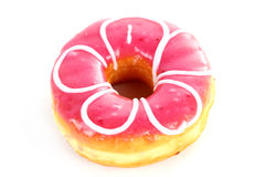 Pink Doughnut. Isolated on a White Background Royalty Free Stock Photo