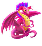 Pink dragon Stock Image