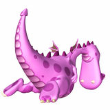 Pink Dragon Cartoon Stock Photo