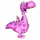 Pink Dragon Cartoon Royalty Free Stock Photos