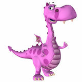 Pink Dragon Cartoon Stock Image