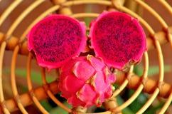 pink dragon fruit Stock Photo