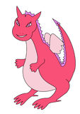 Pink dragon girl Stock Image