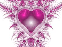 Pink dragon heart, Valantine's day motive Royalty Free Stock Photo