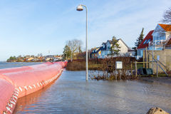 Pink water tube against the storm Urd in Frederikssund, Denmark. Pink water tubes against the storm Urd in Frederikssund, Denmark, 12:51, Dec 27, 2016 Royalty Free Stock Photos