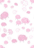 Pink dreams nursery seamless Stock Images