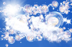 Pink dreams in soap bubbles. About riches and financial profit Royalty Free Stock Photography