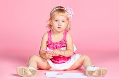 Pink dress Royalty Free Stock Image